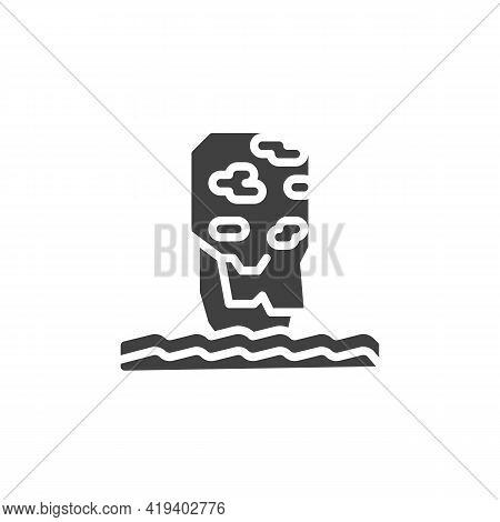 Phang Nga Bay Vector Icon. Filled Flat Sign For Mobile Concept And Web Design. Thailand Mountain Gly