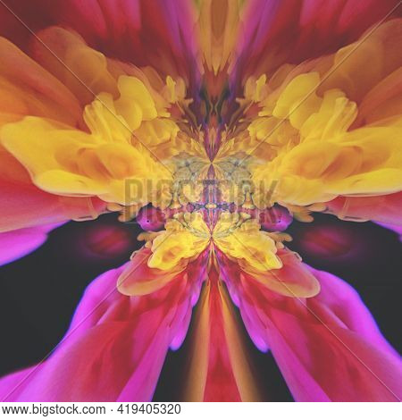 Abstract colorful painting. Fluid color movement. 3D rendering