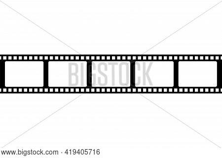 Film Strip Icon . Tape Photo Film Strip Frame, Video Film Strip Roll, Vector Illustration.