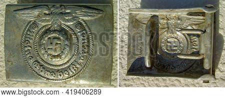 Ss Wehrmacht Soldier Buckle, 3 Reich, Second World War