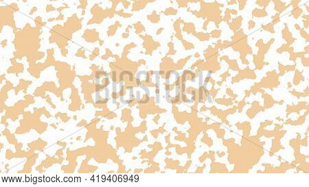 Camouflage Background In Beige Color. Abstract Grunge Spots On A White Background, Vector Illustrati