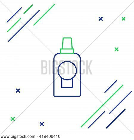 Line Mouthwash Plastic Bottle Icon Isolated On White Background. Liquid For Rinsing Mouth. Oralcare