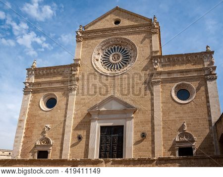 West Front Of The Cathedral  In Gravina In Puglia. Italy