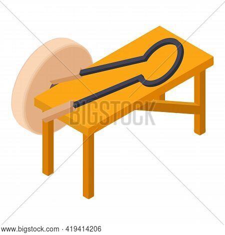Carpentry Workshop Icon. Isometric Illustration Of Carpentry Workshop Vector Icon For Web