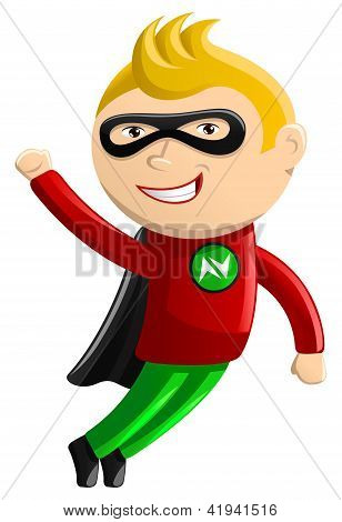 Superhero Mascot - Nitro Boy