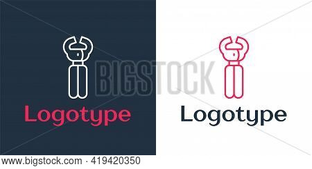 Logotype Line Clippers For Grooming Pets Icon Isolated On White Background. Pet Nail Clippers. Logo