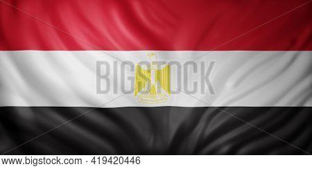 3d Rendering Of A National Egypt Flag.