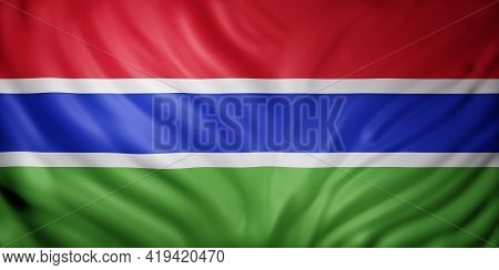 3d Rendering Of A National Gambia Flag.