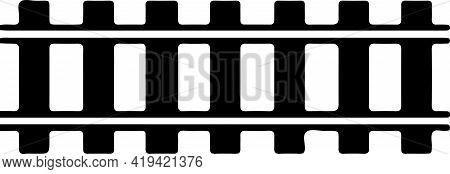 Railroad Logo On White Background , Transport, Transportation