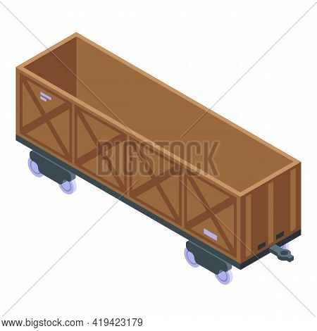 Train Container Icon. Isometric Of Train Container Vector Icon For Web Design Isolated On White Back