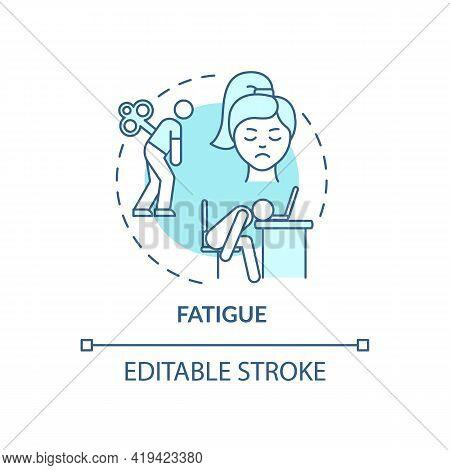 Fatigue Concept Icon. Air Pollution Disease Idea Thin Line Illustration. Extreme Tiredness. No Motiv