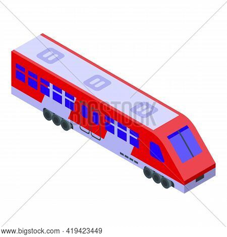 Speedy Train Icon. Isometric Of Speedy Train Vector Icon For Web Design Isolated On White Background