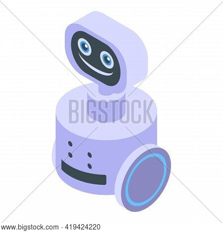 Robot Assistant Icon. Isometric Of Robot Assistant Vector Icon For Web Design Isolated On White Back