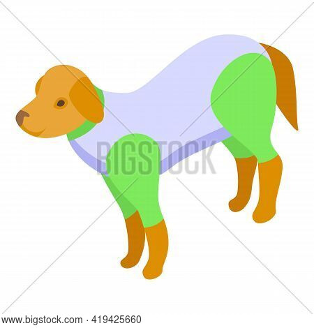 Dog Suit Icon. Isometric Of Dog Suit Vector Icon For Web Design Isolated On White Background