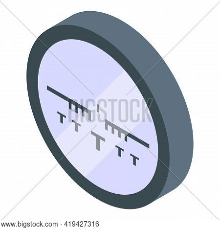 Target Sight Icon. Isometric Of Target Sight Vector Icon For Web Design Isolated On White Background