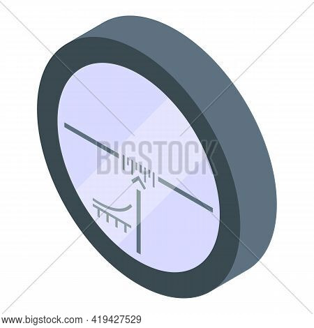 Hunting Scope Sight Icon. Isometric Of Hunting Scope Sight Vector Icon For Web Design Isolated On Wh