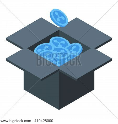 Collect Crypto Icon. Isometric Of Collect Crypto Vector Icon For Web Design Isolated On White Backgr