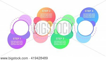 Strategy For Advertisement Vector Infographic Template. Colourful Presentation Design Elements With