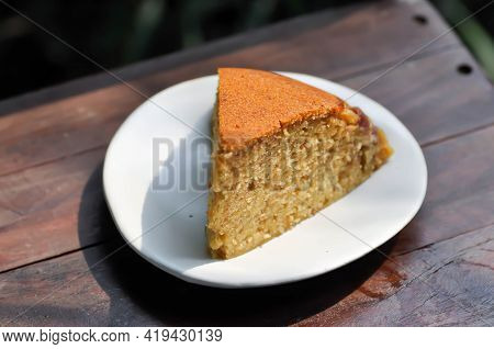 Cake ,banana Cake Or Nut Cake Or Fruit Cake