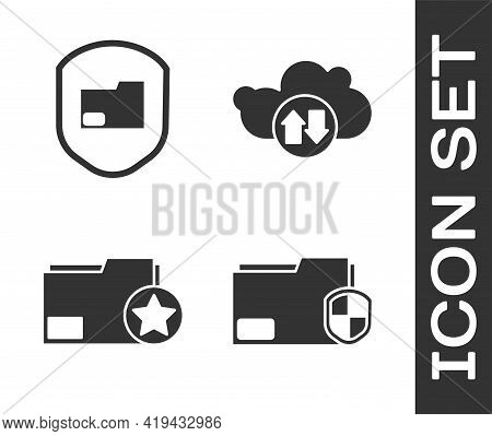 Set Document Folder Protection, Document Folder Protection, Document Folder With Star And Cloud Down
