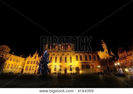 Burg Square At Night