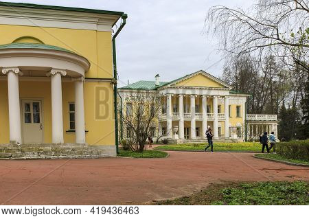 Gorki Leninskiye, Moscow Oblast / Russia - May 02 2021: Manor House In The Museum-reserve Leninskiye