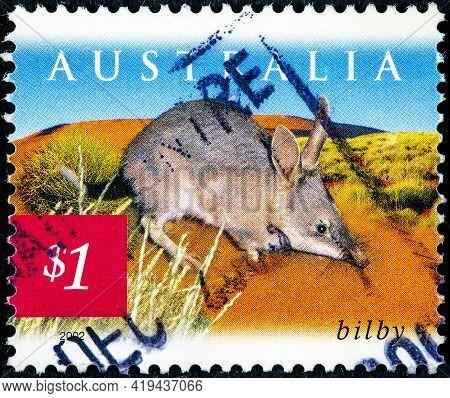 Australia - Circa 2002: A Stamp Printed In Australia Shows Greater Bilby, Circa 2002