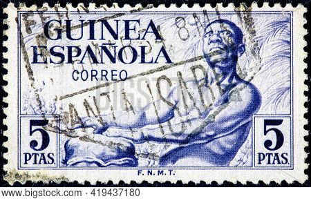 Spanish Guinea - Circa 1952: Stamp With Inscription Guinea Spanish, From The Series
