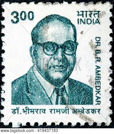 India-circa 1960:a Stamp Printed In India Shows Image Of Bhimrao Ramji Ambedkar(14 April 1891 - 6 De