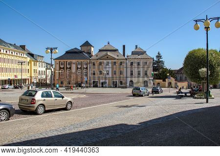 Kutna Hora, Czech - April 28, 2012: This Is Palackeho Square In The Historic Center Of The Old Czech