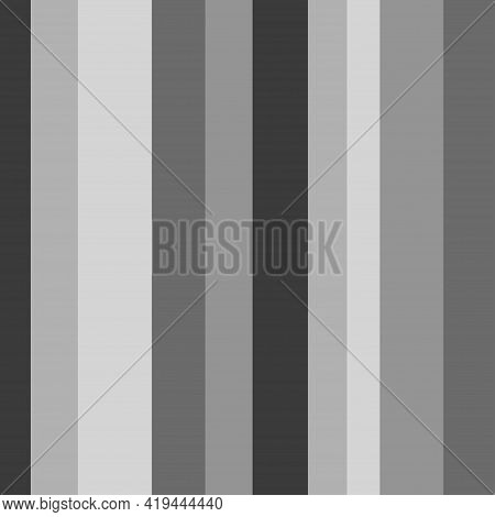 Seamless Stripe Pattern. Geometric Texture With Stripes. Black And White Illustration