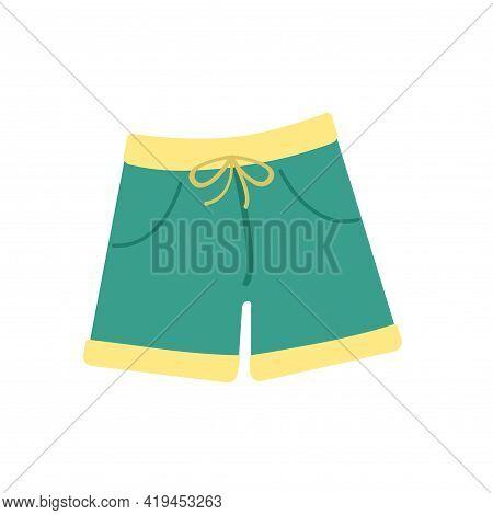 Beach Shorts. Vector Illustration. Decorative Cute Element. Summer.