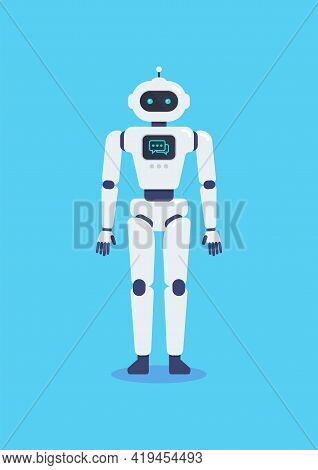 Android Robot Cyborg Technology. Vector Illustration. Graphic Design