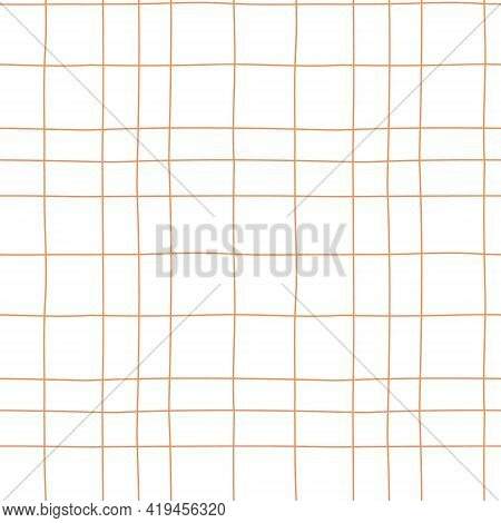 Checkered Print. Abstract Geometric Background With Grid Lines Of Different Widths. Straight Paralle
