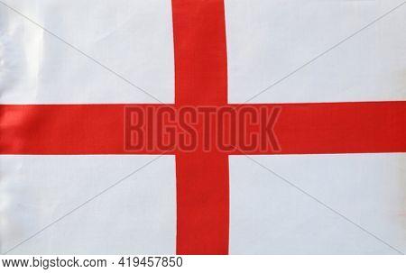 St George's Cross flag close-up