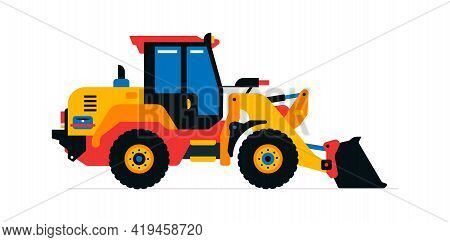 Construction Machinery, Front-end Loader, Tractor, Excavator. Commercial Vehicles For Work On The Co