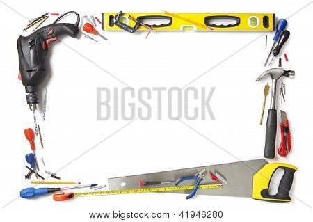 Builder Handyman Background Border