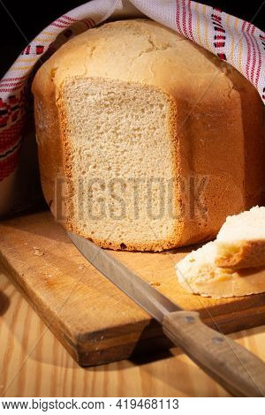Bread Baked At Home Cooked In Breadmaker