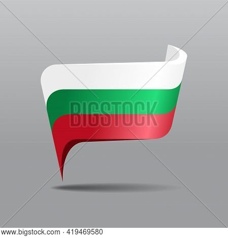 Bulgarian Flag Map Pointer Layout. Vector Illustration.