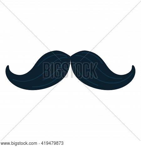 Isolated Mustache Icon. Black Mustache Vector Illustration