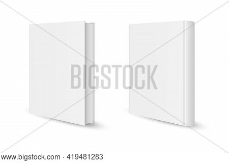 Blank Vertical Book Template. Blank Magazine Or Book Cover, Brochure Booklet. Vector Illustration.