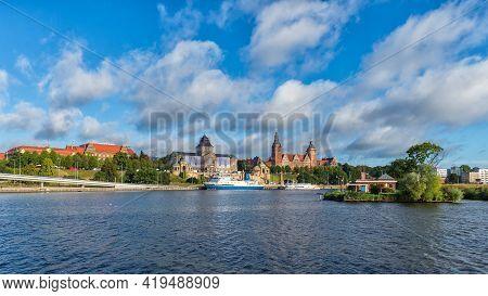 Szczecin, West Pomeranian Voivodeship, Poland - 06 September 2020: Maritime Academy, Waly Chrobrego
