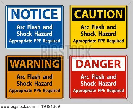 Arc Flash And Shock Hazard Appropriate Ppe Required