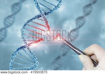 Concept Of Treatment And Adjustment Of Dna Molecule.