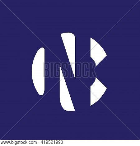 Nc Or Cn Monogram Logo. Vector Negative Space Style Logo.