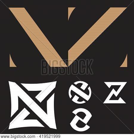 Nz Logo Set. Letter Based Vector Template