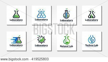 Lab Logo Design Template Concept Collection