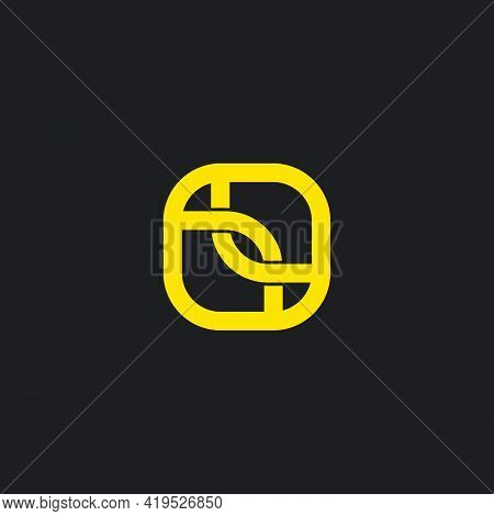 Abstract Letter Lr Square Geometric Line Logo Vector