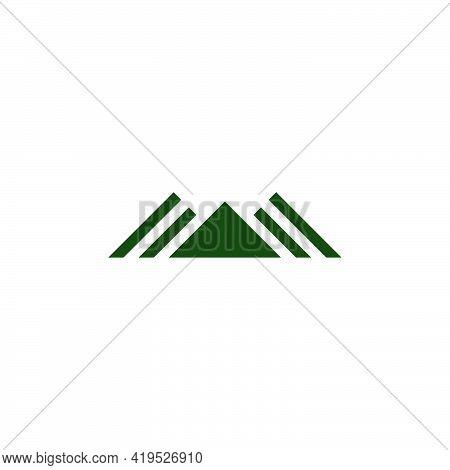 Stripes Triangle Mountain Silhouette Shadow Logo Vector