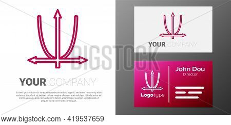 Logotype Line Graph, Schedule, Chart, Diagram, Infographic, Pie Graph Icon Isolated On White Backgro